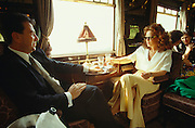 Venice Simplon-Orient-Express. Passengers sipping Champagne between Venice and Padua.