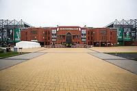 UEFA Europa League 2015: Celtic - Molde. Celtics stadion Celtic Park dagen før Europa League kampen mellom Celtic og Molde på Celtic Park.
