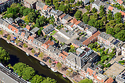 Nederland, Noord-Holland, Haarlem, 01-08-2016; centrum Haarlem met Nieuwe Gracht richting Jansstraat<br /> City centre Haarlem.<br /> luchtfoto (toeslag op standard tarieven);<br /> aerial photo (additional fee required);<br /> copyright foto/photo Siebe Swart