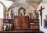 Sacristy in Our Lady of the Rocks, church, Bay of Kotor, Perast, Montenegro