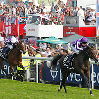 Joseph O'Brien riding Camelot winning the Investec Derby