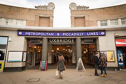 Uxbridge tube station, West London UK