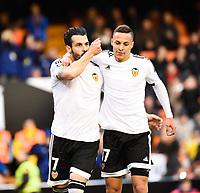 Valencia's  Alvaro Negredo and Rodrigo during Spanish King's Cup match. January 6, 2016. (ALTERPHOTOS/Javier Comos)