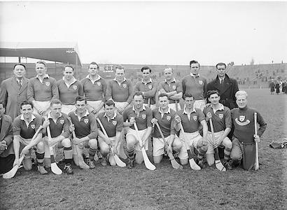 Neg No: 735/9958-9965...3041955IPHCF.03.04.1955...Interprovincial Railway Cup Hurling Championship - Final...Munster.06-08.Connacht.03-04...Munster. ..A. Reddan (Tipperary), G. ORiordan, J. Lyons (Cork), J. Doyle, P. Stakelum (Tipperary), D. OGrady (Clare), V. Twomey (Cork), J. Smith (Clare), J. Hough (Tipperary), W. J. Daly (Cork), D. Dillon (Clare), J. Hartnett (Cork), S. Power (Waterford), J. Greene (Clare), C. Ring (Cork). .
