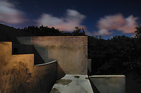 clouds pass during a long exposure at the Hix Island House in Vieques, Puerto Rico