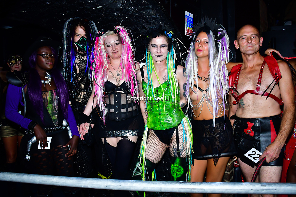 "Designer Karin Zenzinger - Dark Goth collection at The Third Annual Integrity Awards by Dragon Lady Productions and The Peace Project 21st ""The Alternative Fashion Integrity Awards 2019 & Film Networking Soirée"" on 21 September 2019, Fire Club Vauxhall, London, UK."