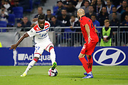 Cornet Maxwel of Lyon and Jallet Christophe of Nice during the French championship L1 football match between Olympique Lyonnais and Amiens on August 12th, 2018 at Groupama stadium in Decines Charpieu near Lyon, France - Photo Romain Biard / Isports / ProSportsImages / DPPI