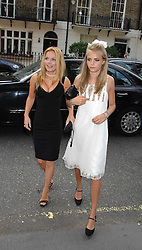 Left to right, GERI HALLIWELL and Sister of the bride CARA DELEVINGNE at the wedding of Chloe Delevingne to Louis Buckworth at St.Paul's Knightsbridge, London on 7th September 2007.<br />