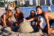 couple, Waikiki Beach, Oahu, Hawaii