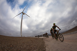 Kristian Hynek of Topeak Ergon Racing leads the riders through the wind turbines at Caledon during stage 4 of the 2017 Absa Cape Epic Mountain Bike stage race from Elandskloof in Greyton to Oak Valley Wine Estate in Elgin, South Africa on the 23rd March 2017<br /> <br /> Photo by Nick Muzik/Cape Epic/SPORTZPICS<br /> <br /> PLEASE ENSURE THE APPROPRIATE CREDIT IS GIVEN TO THE PHOTOGRAPHER AND SPORTZPICS ALONG WITH THE ABSA CAPE EPIC<br /> <br /> ace2016