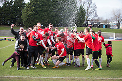 Edinburgh City crowned champions. <br /> Edinburgh City 0 v 0 Gretna FC2008, Scottish Sun Lowland League game played at Meadowbank Stadium, 28/3/2015.