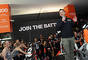 Seth Meyers shows his support for Cycle for Survival, the national movement to beat rare cancers, at Equinox Bryant Park in New York, Sunday, March 13, 2016. 100 percent of funds raised go directly to rare cancer research led by Memorial Sloan Kettering. More than $100 million has been raised since the first ride ten years ago, thanks to support from founding partner Equinox. For more information, visit www.cycleforsurvival.org. (Diane Bondareff/AP Images for Cycle for Survival)