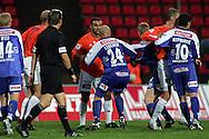 29.08.2005, Ratina, Tampere, Finland..Veikkausliiga 2005 / Finnish League 2005.Tampere United v AC Allianssi.Ville Lehtinen (TamU) v Mustapha Douai (ACA).©Juha Tamminen.....ARK:k