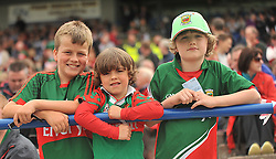 Supporting Mayo ....Sam, Cian and Ross Connelly from Hollymount at the Connacht Final in Dr. Hyde Park.<br /> Pic Conor McKeown