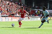 Barnsley midfielder Adam Hammill (7) and Sunderland defender Lamine Kone (23) during the EFL Sky Bet Championship match between Barnsley and Sunderland at Oakwell, Barnsley, England on 26 August 2017. Photo by Justin Parker.