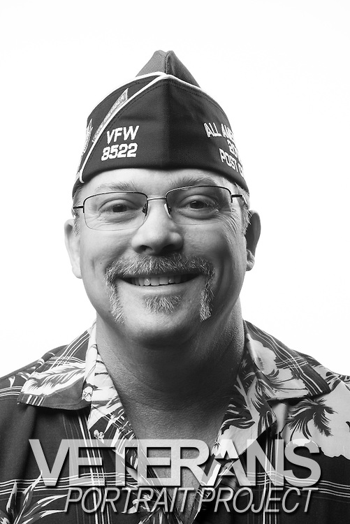 Todd Kingsbury<br /> Navy<br /> E-6<br /> Administration<br /> 1981-2001<br /> Gulf War, Desert Shield<br /> <br /> Veterans Portrait Project<br /> Louisville, KY<br /> VFW Convention <br /> (Photos by Stacy L. Pearsall)