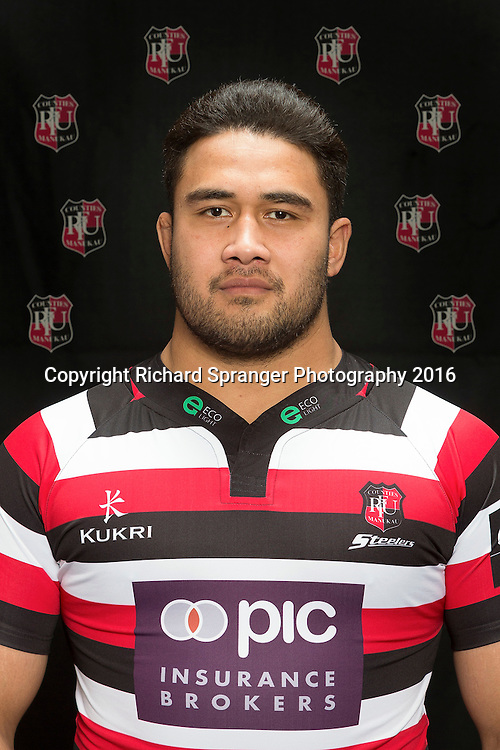Nepo Laulala.<br /> Headshots of the Counties Manukau Steelers rugby team to compete in the 2016 season of the Mitre 10 Cup Premiership.<br /> Photo credit: www.boprugby.co.nz