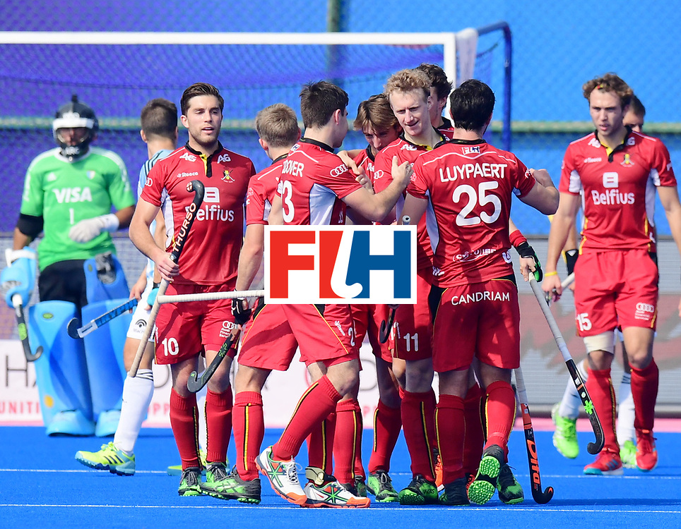 Odisha Men's Hockey World League Final Bhubaneswar 2017<br /> Match id:03<br /> Argentina v Belgium<br /> Foto: Belgium scored a goal<br /> WORLDSPORTPICS COPYRIGHT FRANK UIJLENBROEK