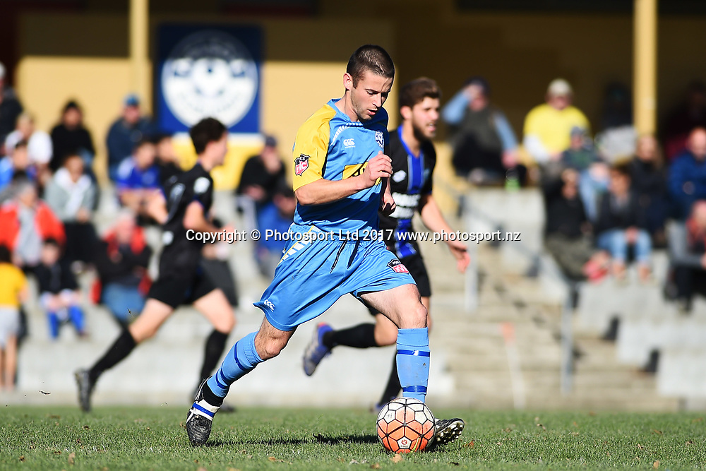 Suburbs player Jimmy Deehan during their Chatham Cup match Nelson Suburbs v Coastal Spirit. Saxton Field, Nelson, New Zealand. Sunday 25 June 2017. ©Copyright Photo: Chris Symes / www.photosport.nz