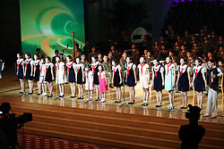 60243569  <br /> Children from China and the Democratic People s Republic of Korea (DPRK) perform during the celebrating ceremony to mark the 60th anniversary of the Korean War Armistice Agreement in Pyongyang, DPRK,<br /> Pyongyang, North Korea, <br /> Monday, July 29, 2013. <br /> Picture by imago / i-Images<br /> UK ONLY