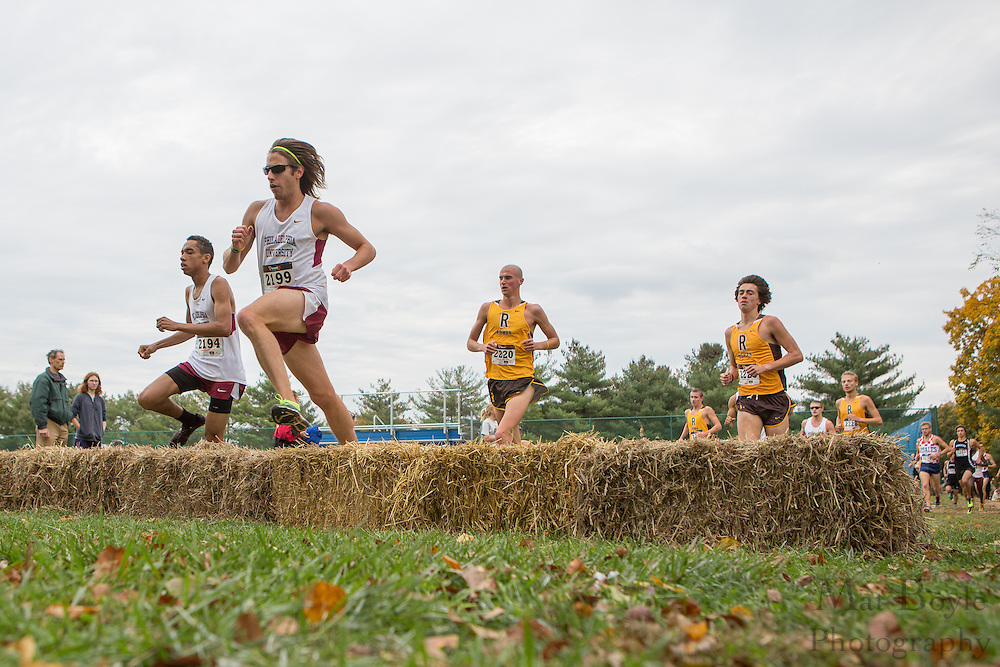 Philadelphia University Curran Kneebone & Didier Barjon - Collegiate Track Conference  Cross-Country Men's Championship at Gloucester County College in Sewell, NJ on Saturday October 19, 2013. (photo / Mat Boyle)