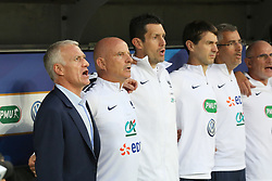 June 1, 2018 - Paris, Ile-de-France, France - Didier Deschamps(L), head coach of France National Team,  before the friendly football match between France and Italy at Allianz Riviera stadium on June 01, 2018 in Nice, France..France won 3-1 over Italy. (Credit Image: © Massimiliano Ferraro/NurPhoto via ZUMA Press)