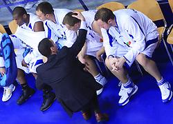 Team of KK Helios at NLB League ABA basketball match between KK Helios Domzale and KK Zagreb Croatia Osiguranje, on October 31, 2008, in Domzale, Slovenia.  (Photo by Vid Ponikvar / Sportida)