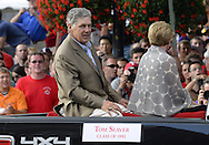 COOPERSTOWN, NY - JULY 26: Hall of Famer Tom Seaver participates in the annual Parade of Legends down Main Street in Cooperstown, New York on July 26, 2014.