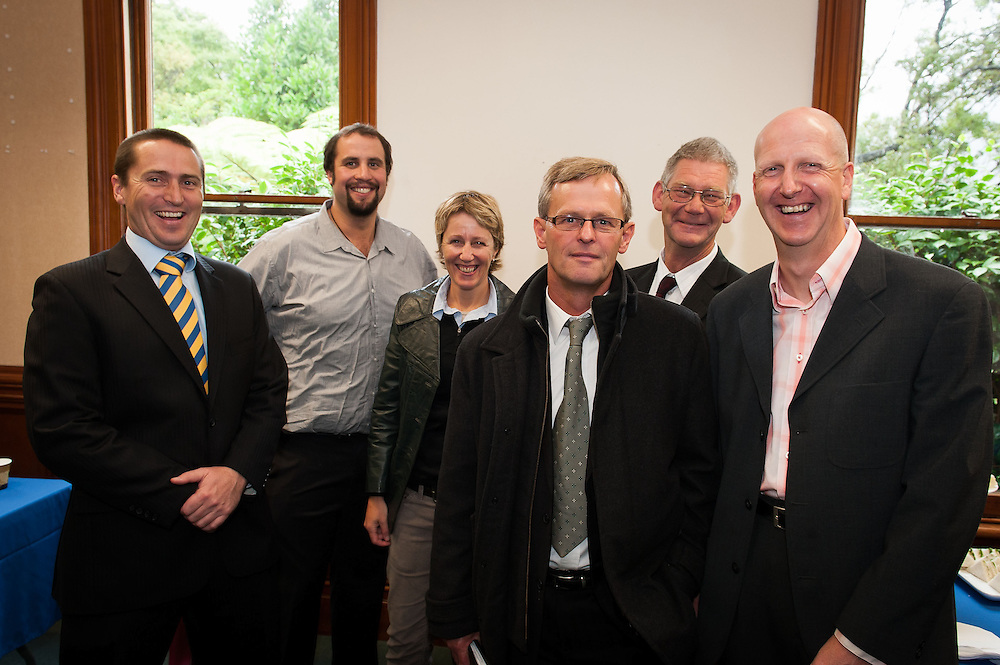Members of the building and architectural team gathered for morning tea following the opening of the new Wellesley College library building by the Rt. Hon. John Key, Prime Minister. Wednesday 21st March 2012...Photo by Mark Tantrum | www.marktantrum.com