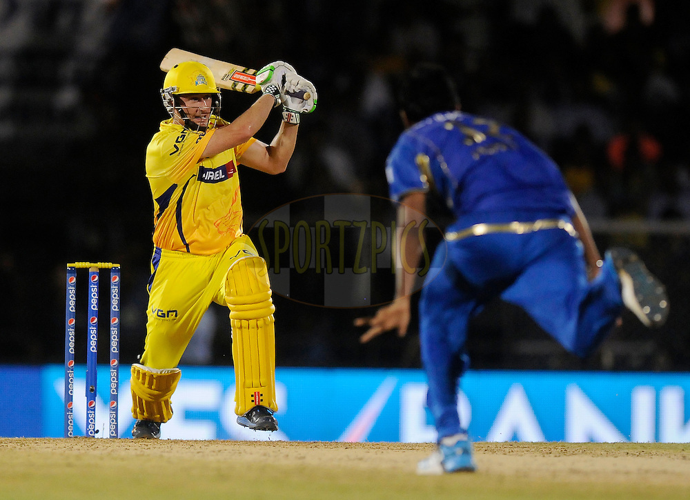 David Hussey of The Chennai Superkings bats during the eliminator match of the Pepsi Indian Premier League Season 2014 between the Chennai Superkings and the Mumbai Indians held at the Brabourne Stadium, Mumbai, India on the 28th May  2014<br /> <br /> Photo by Pal PIllai / IPL / SPORTZPICS<br /> <br /> <br /> <br /> Image use subject to terms and conditions which can be found here:  http://sportzpics.photoshelter.com/gallery/Pepsi-IPL-Image-terms-and-conditions/G00004VW1IVJ.gB0/C0000TScjhBM6ikg
