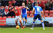 Marcus Haber, joe Rafferty during the Sky Bet League 1 match between Crewe Alexandra and Rochdale at Alexandra Stadium, Crewe, England on 6 February 2016. Photo by Daniel Youngs.