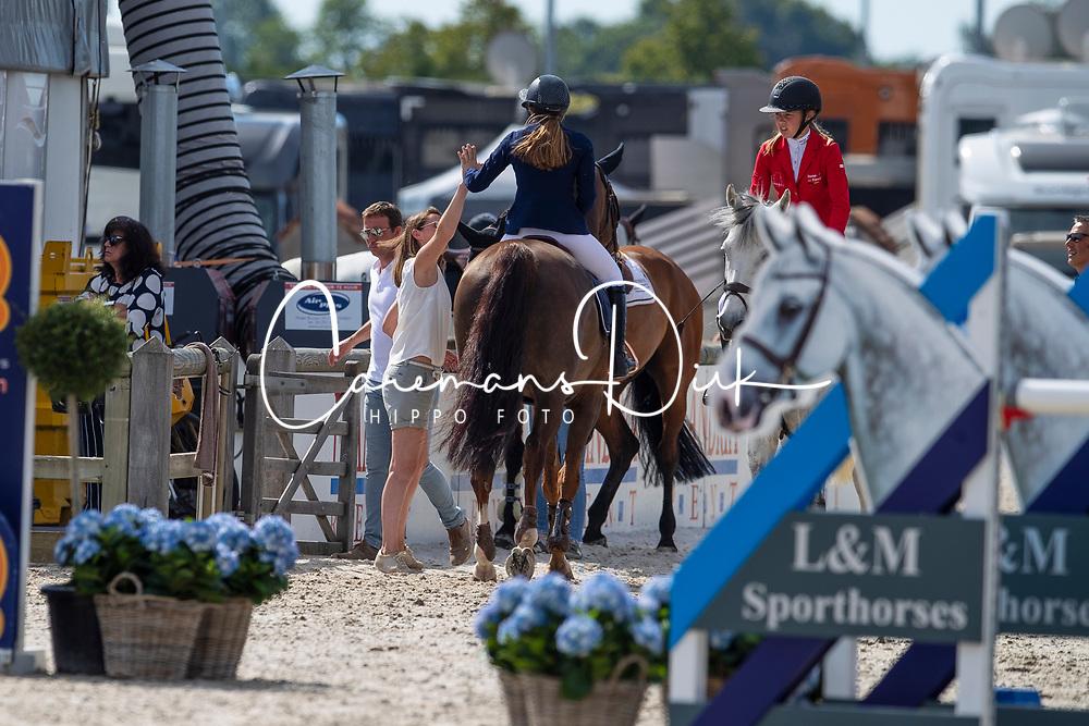 Frederick Charlotte, BEL, Electron Du Houssoit, Wauters Wendy, BEL<br /> Belgisch Kampioenschap - Azelhof 2019<br /> © Hippo Foto - Dirk Caremans