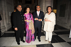 Left to right, MR & MRS GOPICHAND HINDUJA and MR & MRS SRICHAND HINDUJA at the opening of the Victoria & Albert Museum's latest exhibition 'Grace Kelly: Style Icon' opened by His Serene Highness Prince Albert of Monaco at the V&A on 15th April 2010.