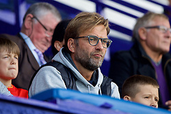 BIRKENHEAD, ENGLAND - Sunday, September 11, 2016: Liverpool's manager Jürgen Klopp watches the Under-23 side take on Leicester City during the FA Premier League 2 Under-23 match at Prenton Park. (Pic by David Rawcliffe/Propaganda)