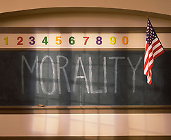 Morality school chalk board