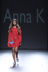 September 20, 2016 - Madrid, Spain - A model walks on the runway at the ANNA K of  Kiev show during Mercedes-Benz Fashion Week Madrid Spring/Summer 2017 at Ifema on September 19, 2016 in Madrid, Spain. (Credit Image: © Oscar Gonzalez/NurPhoto via ZUMA Press)