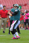 Philadelphia Eagles quarterback Matt Barkley (2) during the Eagles 31-20 win over the Tampa Bay Buccaneers on Oct. 13, 2013 in Tampa, Florida. <br /> <br /> ©2013 Scott A. Miller