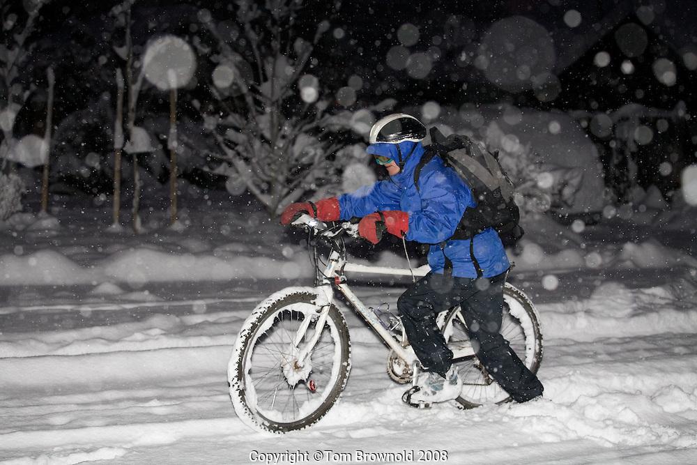 Snowy winter morning in Fagstaff, AZ