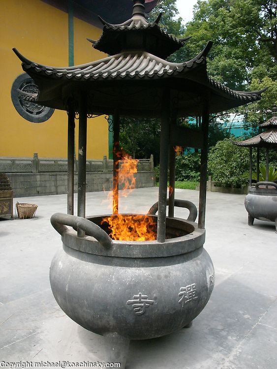 Incense Burning at Lingyin Temple, Hangzhou
