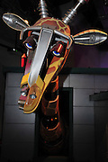 Israel, Haifa, MadaTech The Israel national Museum of Science The Robotic World exhibition. Giraffe Robot