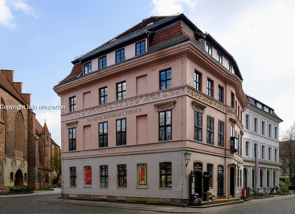 Exterior view of Knoblauchhaus museum in Nikolaiviertel district in Berlin Germany