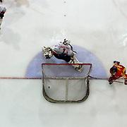 in action  during the Bulgaria V China match at the 2012 IIHF Ice Hockey World Championships Division 3 held at Dunedin Ice Stadium. Dunedin, Otago, New Zealand. 17th January 2012. Photo Tim Clayton