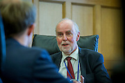 Jan Smets, Governor of the National Bank of Belgium, during an interview in his office in Brussels 29 October 2015. Photo: Erik Luntang