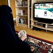 Arhus, Denmark, May 13, 2010. Aisha, 42, danish, converted to Islam 22 years ago.