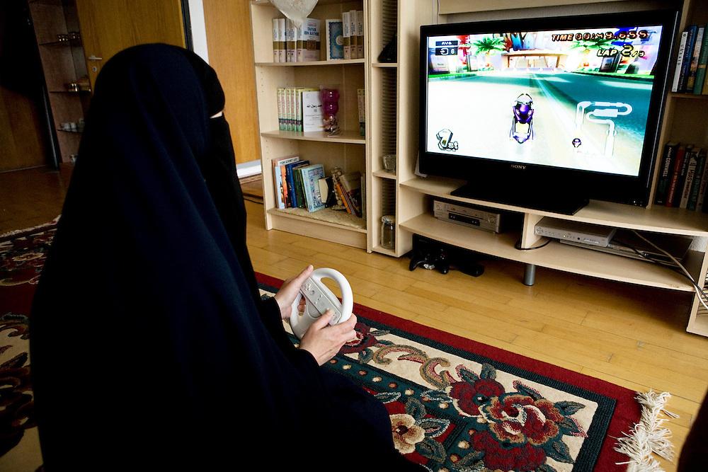 Arhus, Denmark, May 13, 2010. Aisha, 42, danish, converted to Islam 22 years ago.