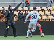FODBOLD: Cheftræner Kasper Hjulmand (FC Nordsjælland) på sidelinjen under træningskampen mellem FC Nordsjælland og FC Helsingør den 13. januar 2018 i Right to Dream Park i Farum. Foto: Claus Birch