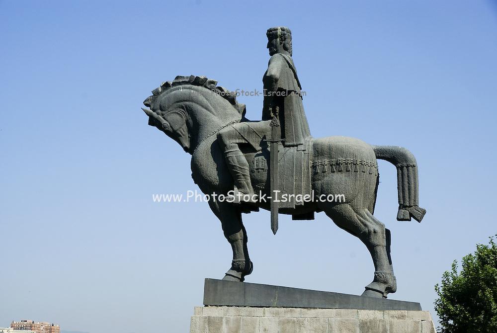 Georgia, Tbilisi, Statue of King Gorgasali