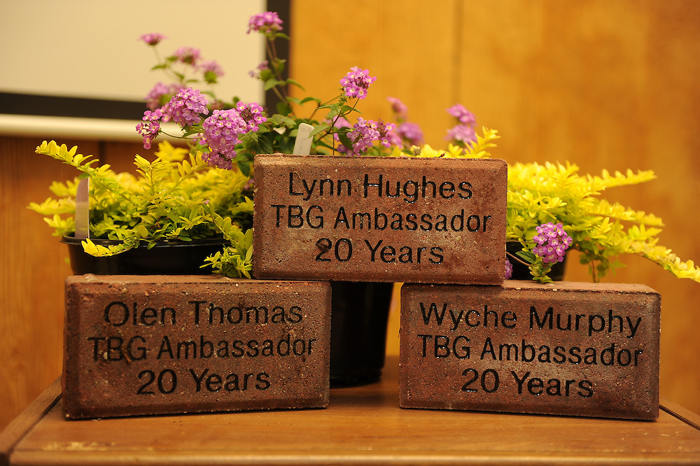 Oklahoma Gardening Ambassadors Recognized 3 of there own for completing 20 years of service to the organization.  Lynn Hughes, Olen Thomas, Wyche Murphy.