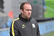 Manchester City Womens Manager, Nick Cushing during the FA Women's Super League Spring Series match between Manchester City Women and Yeovil Town Ladies FC at the Sport City Academy Stadium, Manchester, United Kingdom on 21 May 2017. Photo by Mark Pollitt.