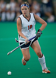 Virginia Cavaliers B Katherine Bounds (18)..The Virginia Cavaliers field hockey team faced the Radford Highlanders at the University Hall Turf Field in Charlottesville, VA on October 10, 2007.